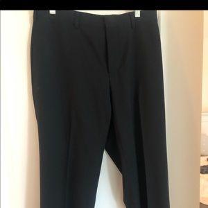 Ralph Lauren Mens Black Dress Pants